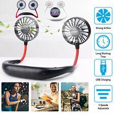 Innovative USB Neckband Cooling Fan 3-Speed Silent Flexible Sports Mini Fan