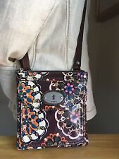 Fossil Sm Coated Canvas Cross Body Bag W/ Silver Tone Hrdwr NWOT  LOWER PRICE!!!