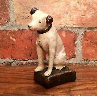Cast Iron Nipper Dog Vintage Miniature Figurine Paperweight
