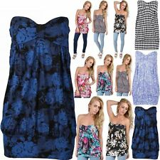 Floral Bandeau Tops & Shirts Plus Size for Women