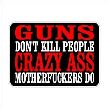 Guns Don't Kill People  2nd Amendment Decal Car Sticker Second Amendment