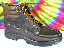size 10 B vintage 90's leather RALPH LAUREN lace-up ankle boots