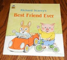 Richard Scarry's BEST FRIEND EVER Classic Storybook Collectible Golden Book 1989