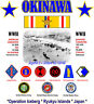 OKINAWA WW II BATTLE SHIRT* W/ ASIATIC RIBBON* OPERATION ICEBERG 2-SIDED SHIRT