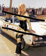 "Linda Vaughn ""Miss Hurst Golden Shifter"" SEXY Body Suit & '69 Oldsmobile PHOTO!"