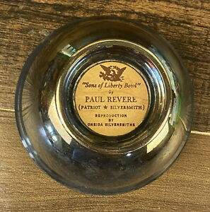 """Sons Of Liberty Bowl by Paul Revere Reproduction By Oneida 4"""""""