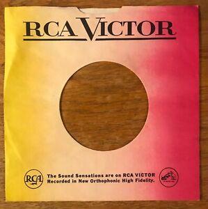 45rpm RECORD COMPANY SLEEVE - RCA VICTOR - RAINBOW - ELVIS PRESLEY