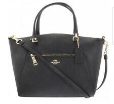 Coach Prairie Leather Black Satchel or Crossbody Handbag