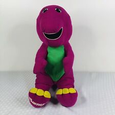 "BARNEY1992 Playskool 18"" Plush Talking Interactive Dinosaur Large Stuffed Hasbro"