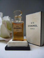 CHANEL No5 Parfum Extrait 1/4oz Vintage 1940s New tall Column Bottle Nr Mint Box