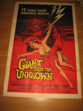 Giant From the Unknown Original 1sh Movie Poster