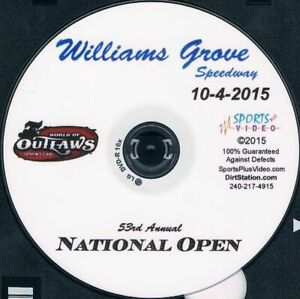 World Of Outlaws Sprintcars DVD From Williams Grove Speedway 10-4-2015