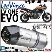 TERMINALE SCARICO OMOLOGATO LEOVINCE LV ONE EVO KTM 1190/R ADVENTURE 2014 2015
