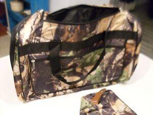 Woodland Creek Duffle Bag with Men's Toiletry Bag Camo New