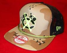 New Licensed Chicago Blackhawks Camo Neon New Era 9Fifty Snapback Hat B102