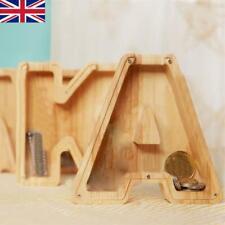 Wooden Piggy Bank Creative Twenty-six English Alphabet Piggy Bank Crafts A-Z