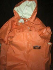 Grundens Herkules Bibs Pants & Jacket Commercial Fishing Gear Orange Mens S