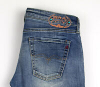 Replay Femme Wendie Slim Jambe Droite Jeans Extensible Taille W27 L30 AOZ351