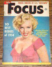 MARILYN MONROE AUTHENTIC ORIGINAL USA FOCUS MAGAZINE JUNE 1954
