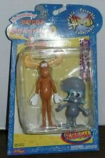 2000 Just Toys Adventures of Rocky and Bullwinkle Bend-Ems Set Of 2 Figures New