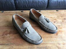 Men's, Pollini, Nubuck Leather, Tassled Loafers, Size 44.
