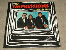 """THE IMPRESSIONS - One By One 12"""" LP 1965 ABC Records RARE MONO SOUL"""