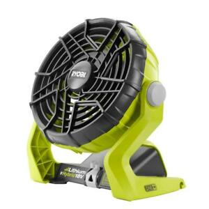 RYOBI Portable Fan 18-Volt ONE+ Hybrid (Tool Only) 59 dBA (ABS)Multiple Hanging