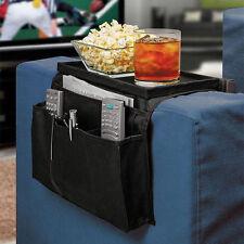 Sofa Couch Remote Control Holder Arm Rest Organizer Storage Tray Bag 6 Pocket#&