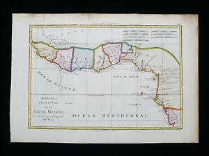 1787 BONNE: AFRICA, GUINEA, AFRIQUE, IVORY COAST, GAMBIA, GHANA, SENEGAL