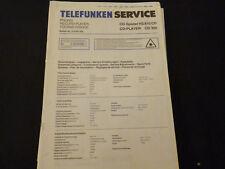 Original Service Manual Telefunken HS 810 CD  CD 300