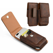 Leather Belt Clip Luxmo Pouch Holster Phone Holder Vertical Brown