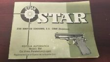 New listing Star Cal. 9mm. Pistol Manual