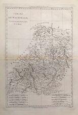 GERMANY . Westphalia .Original map, Bonne, 1787