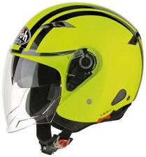 Casco jet Airoh City one Flash giallo nero taglia L yellow black helmet casque