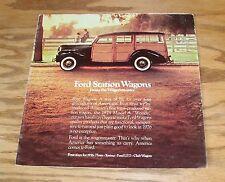 Original 1976 Ford Station Wagon Foldout Sales Brochure 76 Torino Pinto LTD