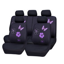 Car Seat Covers Butterfly For Women Girls Purple Universal For Honda Toyota Ford