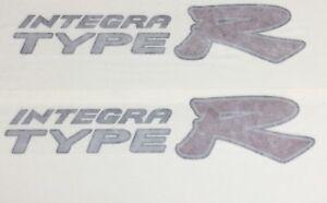 Genuine OEM Honda INTEGRA DC5 TYPE R side Decal Black outline PAIR