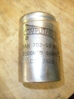 Vintage Computamite Capacitor 7000mfd 50wvdc