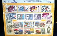 Vintage Postage Stamps CZECHOSLOVAKIA 50 Different  ~ Cancelled