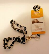 Petco Ferret Small Animal Zebra Harness & Lead Leash-New