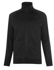 Firetrap Tracksuit Jacket Black Mens UK Medium Zipped Name Shoulders *Ref164