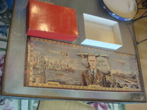 """ORIGINAL Jig Saw Puzzle THE LINDBERGH TAPESTRY american heritage 10 1/2 x 29"""" -1"""