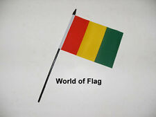 """GUINEA SMALL HAND WAVING FLAG 6"""" x 4"""" Guinean Africa Table Desk Crafts Display"""