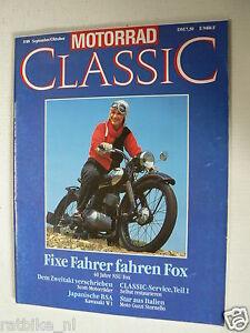 MOTORRAD CLASSIC 1989-05,NSU FOX,KAWASAKI W1,GUZZI STORNELLO,SCOT,AUTO UNION 125