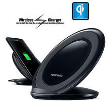 Qi Wireless Fast Charger Charging Pad Stand Dock for Apple iPhone X 8 Samsung S8