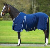 "Horseware Rambo OPTIMO STABLE SHEET Microfibre Travel Rug Black/Navy 5'6""-7'3"""