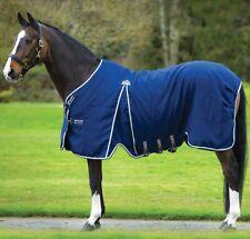 "Horseware Rambo OPTIMO STABLE SHEET Microfibre Travel Rug Black/Navy 5'6""-7'3"""