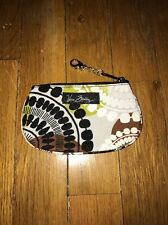 NWT Vera Bradley Round Zip ID Case Cocoa Moss!  BRAND NEW with Tags!