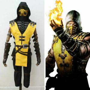 New! Mortal Kombat X Scorpion Cosplay Costume