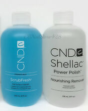 Cnd Pro Nail Care Gel Shellac - 2pcs set -  ScrubFresh & Nourishing Remover 8oz